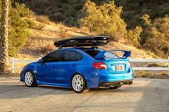"Subaru WRX STI on 18"" Vorsteiner V-FF 108 Wheels - Rear Side Shot"