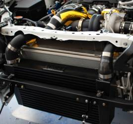 Full Race Front mount intercooler and aluminum charge pipes