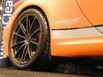 TrackLogic Porsche GT3 on Forgeline One Piece Forged Monoblock GT1 5-Lug Wheels at the 2014 SEMA Show