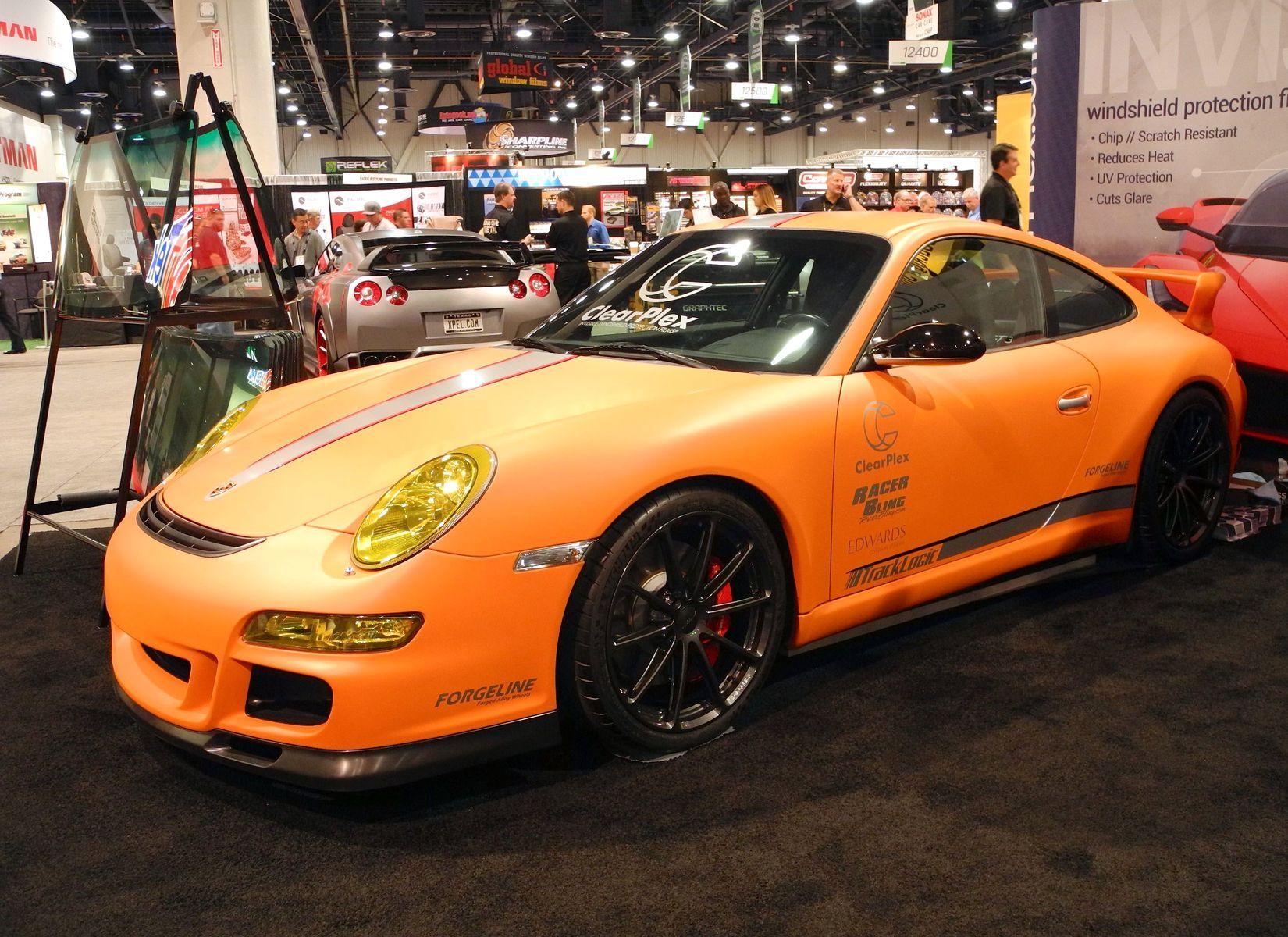 2012 Porsche 911 | TrackLogic Porsche GT3 on Forgeline One Piece Forged Monoblock GT1 5-Lug Wheels at the 2014 SEMA Show