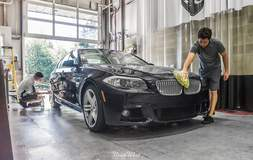 Prepping a 550i for XPEL ULTIMATE clear bra installation