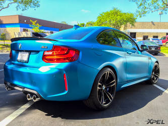 2016 BMW M2 | XPEL Austin protected this entire BMW M2 with XPEL STEALTH satin-finish clear bra