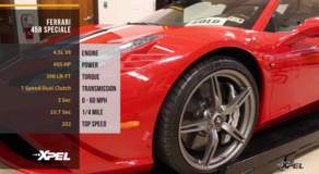 Ferrari 458 Speciale Front End Wrap Clear Bra XPEL Paint Protection Film