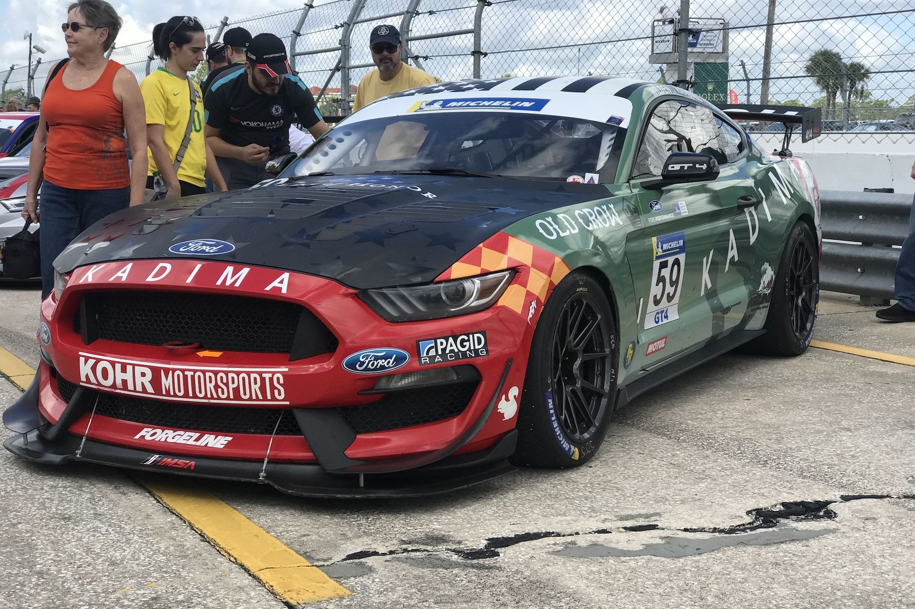 2018 Ford Mustang | KohR Motorsports Wins the IMSA Michelin Encore at Sebring on Forgeline One Piece Forged Monoblock GS1R Wheels