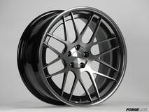 Forgeline DE3C-SL Concave Stepped Lip Wheel Gloss Black, HTM, and Tinted Clear