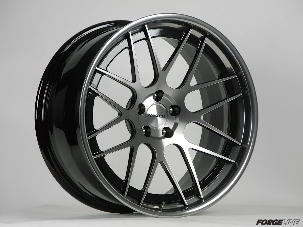 | Forgeline DE3C-SL Concave Stepped Lip Wheel Gloss Black, HTM, and Tinted Clear