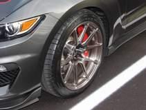 Tony Janko's Mustang GT350 on Forgeline One Piece Forged Monoblock GA1R Open Lug Wheels