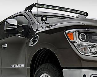 2016 Nissan Titan Front Roof LED Light Bar Mounts