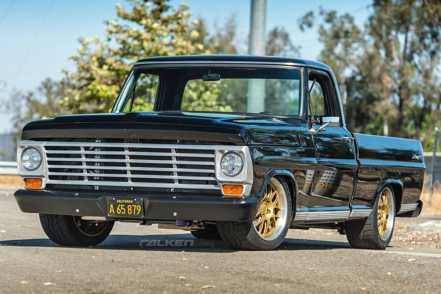 1967 Ford  | Derek Brown's '67 Ford F100 Pickup on Forgeline GX3P Wheels - Front Stance