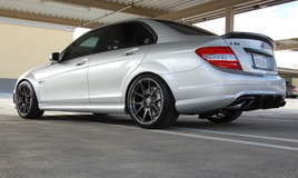 C63 AMG on Forgeline GA1R Open Lug Cap Edition Wheels