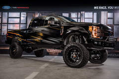 "2017 Ford F250 Super Duty 4x4 Lariat Crew Cab ""Shockzilla"" by Fabtech - Complete Build shot on site at Ford SEMA 2016 #FordSEMA"