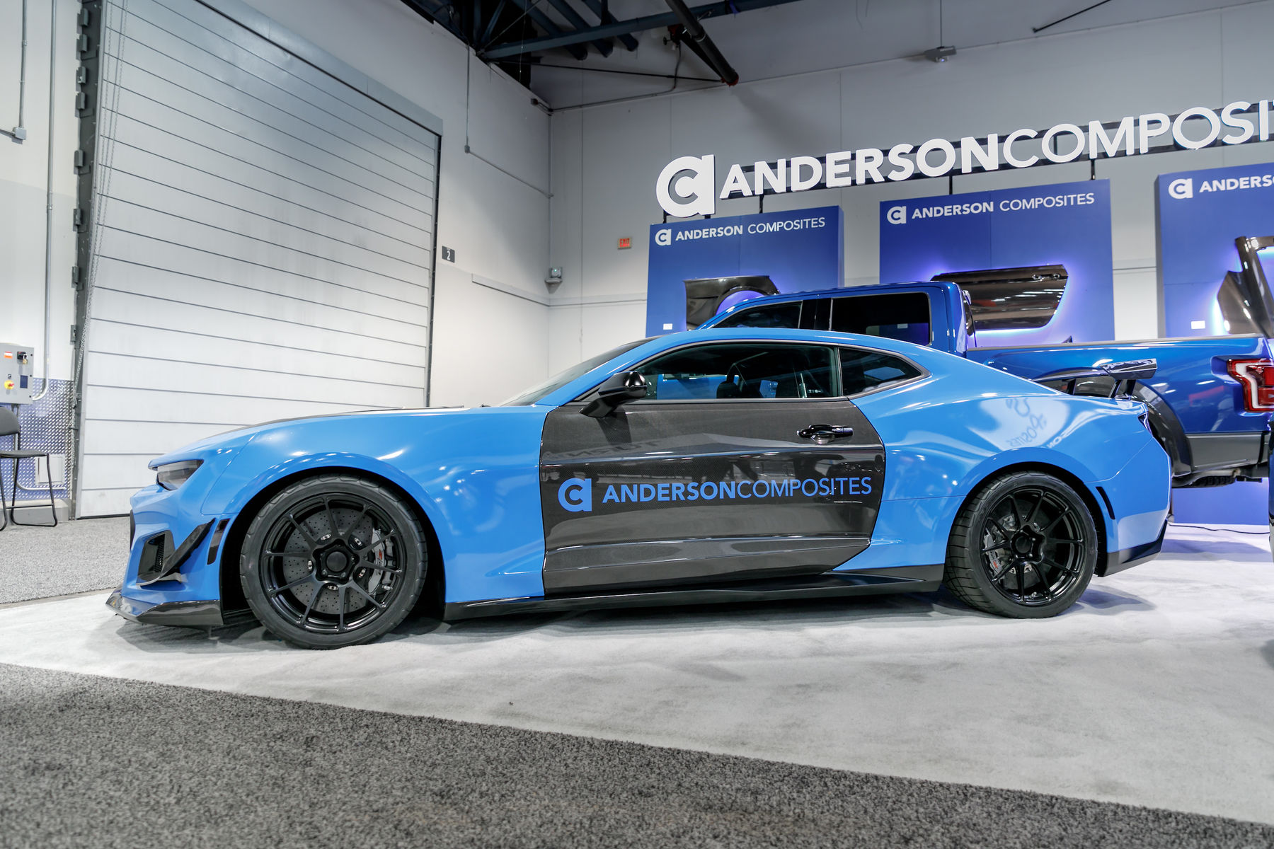 2017 Chevrolet Camaro | Anderson Composites Camaro ZL1 1LE on Forgeline One Piece Forged Monoblock GA1R Open Lug Wheels