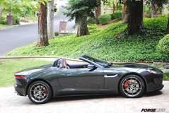 Jim Simpson's Jaguar F-TYPE Convertible on Forgeline One Piece Forged Monoblock GA1R Wheels
