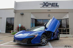 McLaren 650S in for XPEL ULTIMATE self-healing clear bra