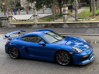 2016 Porsche Cayman | Blue Porsche Cayman GT4 on Forgeline One Piece Forged Monoblock GS1R Wheels
