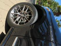 Black Lincoln Navigator on 22-inch Forgeline One Piece Forged Monoblock VX1-Truck Wheels