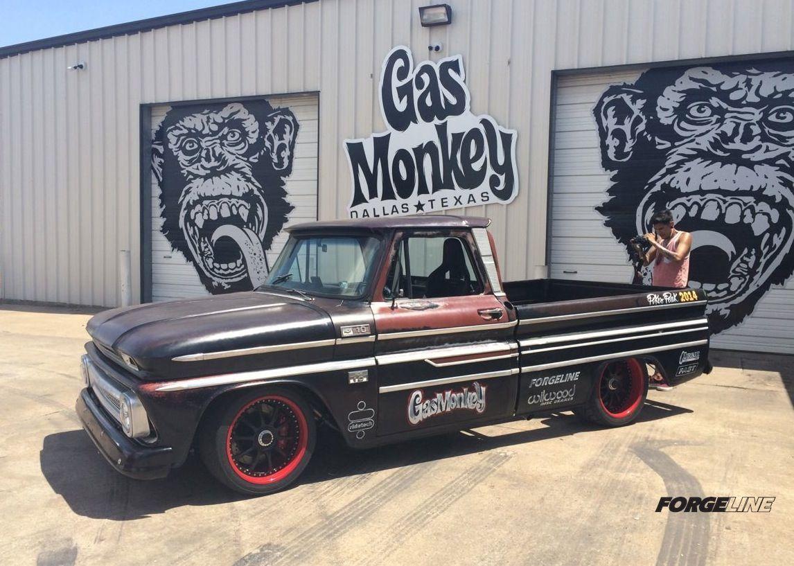Gas monkey garage 39 65 chevy c10 pikes peak pace truck on for Garage europe auto center fresnes