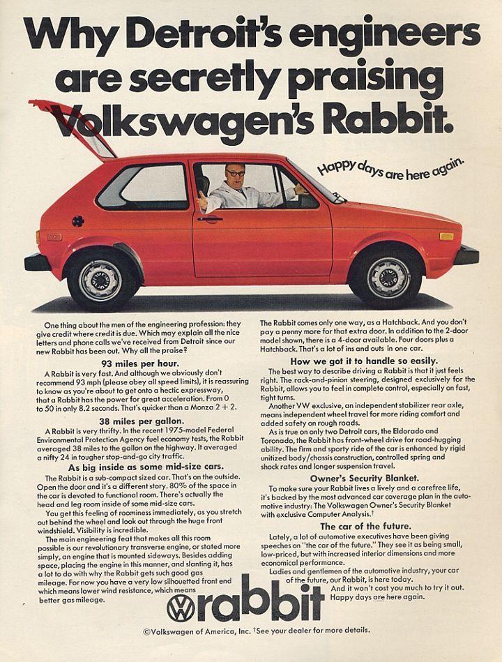 1979 Volkswagen Rabbit   VW MK1