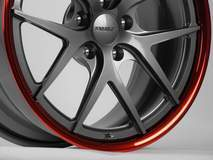 Forgeline VX3C Shallow Concave in Gunmetal and Transparent Red