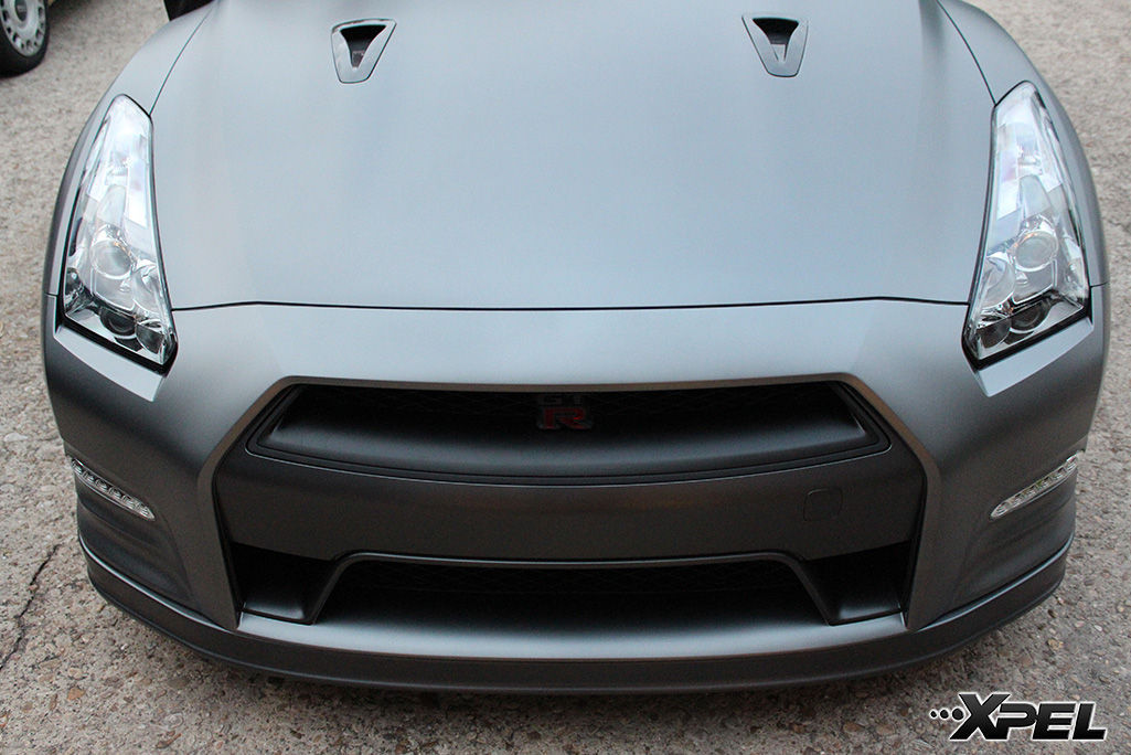 Nissan GT-R | XPEL STEALTH Satin-Finish clear bra installation
