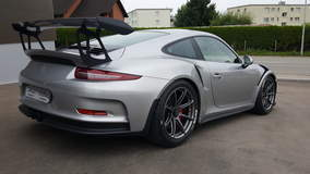 Horag Hotz Racing Porsche 991 GT3 RS on Forgeline One PIece Forged Monoblock GE1R Wheels