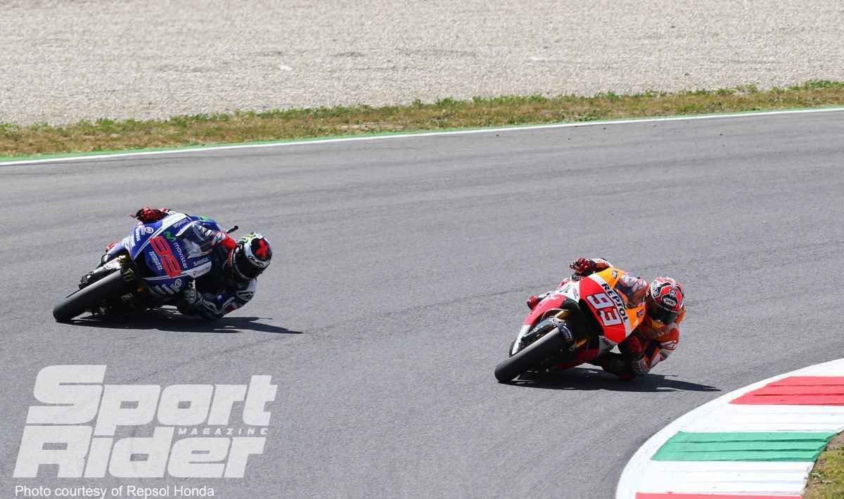2014     Marquez holds the tight line, wins #6 in Mugello