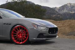 "Maserati Ghibli Q4 on 22"" Avant Garde M615 Wheels - Passenger Wheel Shot"