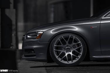 "2014 Audi S4 | Audi B8.5 S4 Monsoon Grey | V710 Gunmetal 19"""