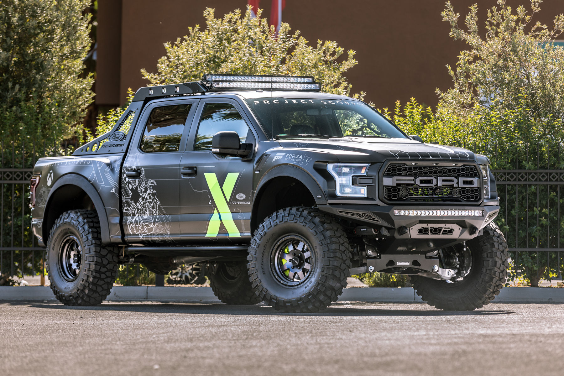 2017 Ford F 150 Raptor Supercrew By Addictive Desert Designs Front Shot Fordsema