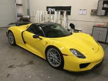 Porsche 918 Spyder with XPEL ULTIMATE self-healing clear bra