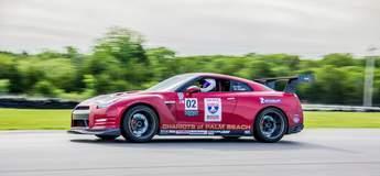 Chariots of Palm Beach Nissan GT-R on Forgeline GA1R Open Lug Wheels