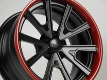 Grip Equipped Grudge Wheel in Satin Black with Super Wet Red Outer