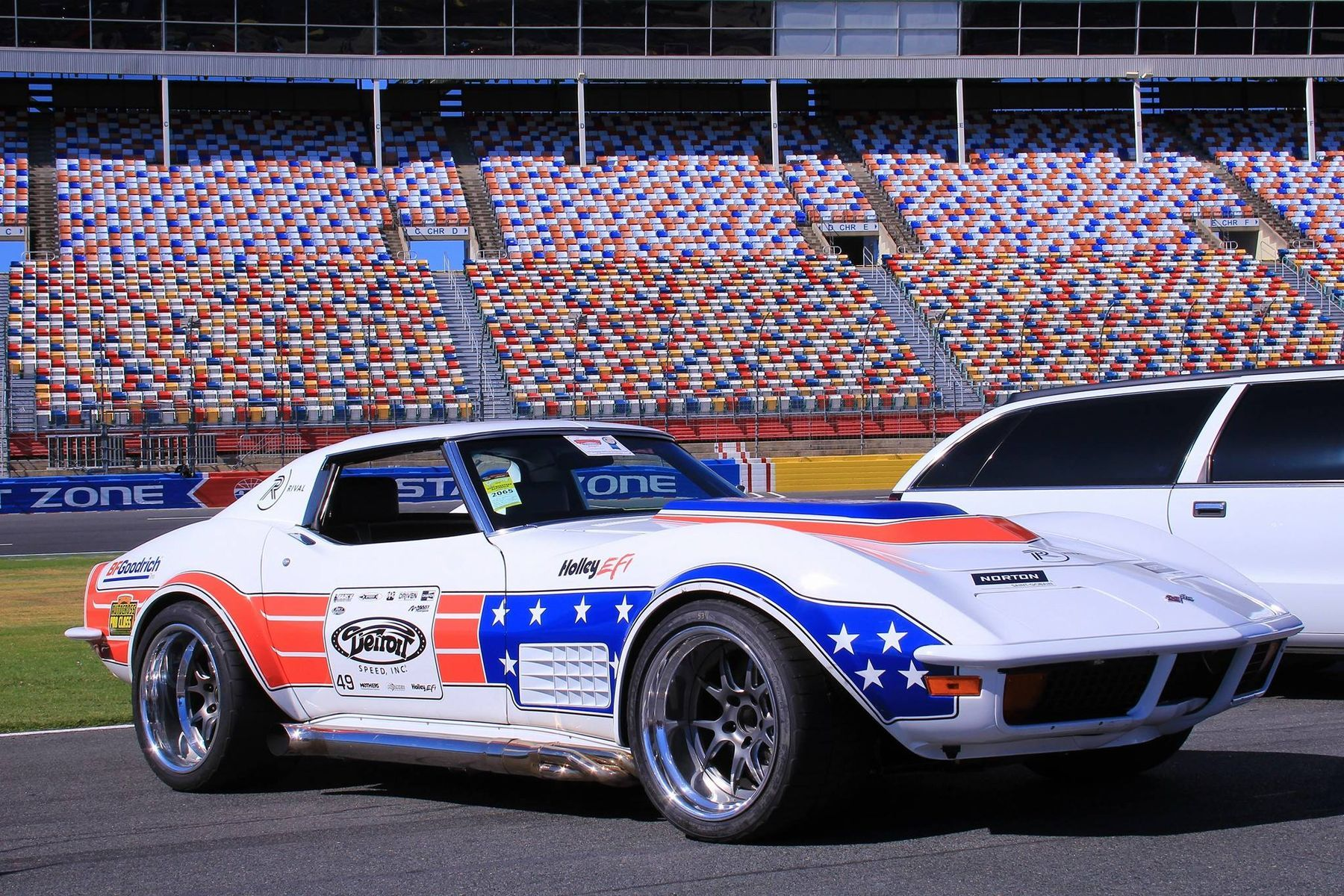 1972 Chevrolet Corvette | Ryan Mathews is Pro Class Autocross Winner at Goodguys Charlotte with Detroit Speed's '72 Corvette on Forgeline GA3 Wheels
