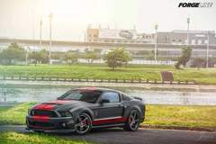 Made in USA Forgeline One Piece Forged Monoblock SC1 Wheels on Shelby GT500 in Taiwan