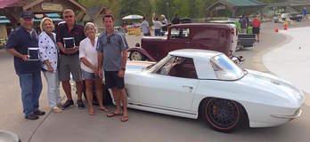Mike Goldman Customs Corvette on Forgeline MS3C Wheels