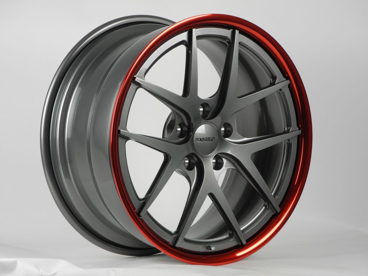 | Forgeline VX3C Shallow Concave in Gunmetal and Transparent Red