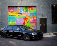 "Audi S4 on 20"" Vorsteiner Wheels - Street Art"