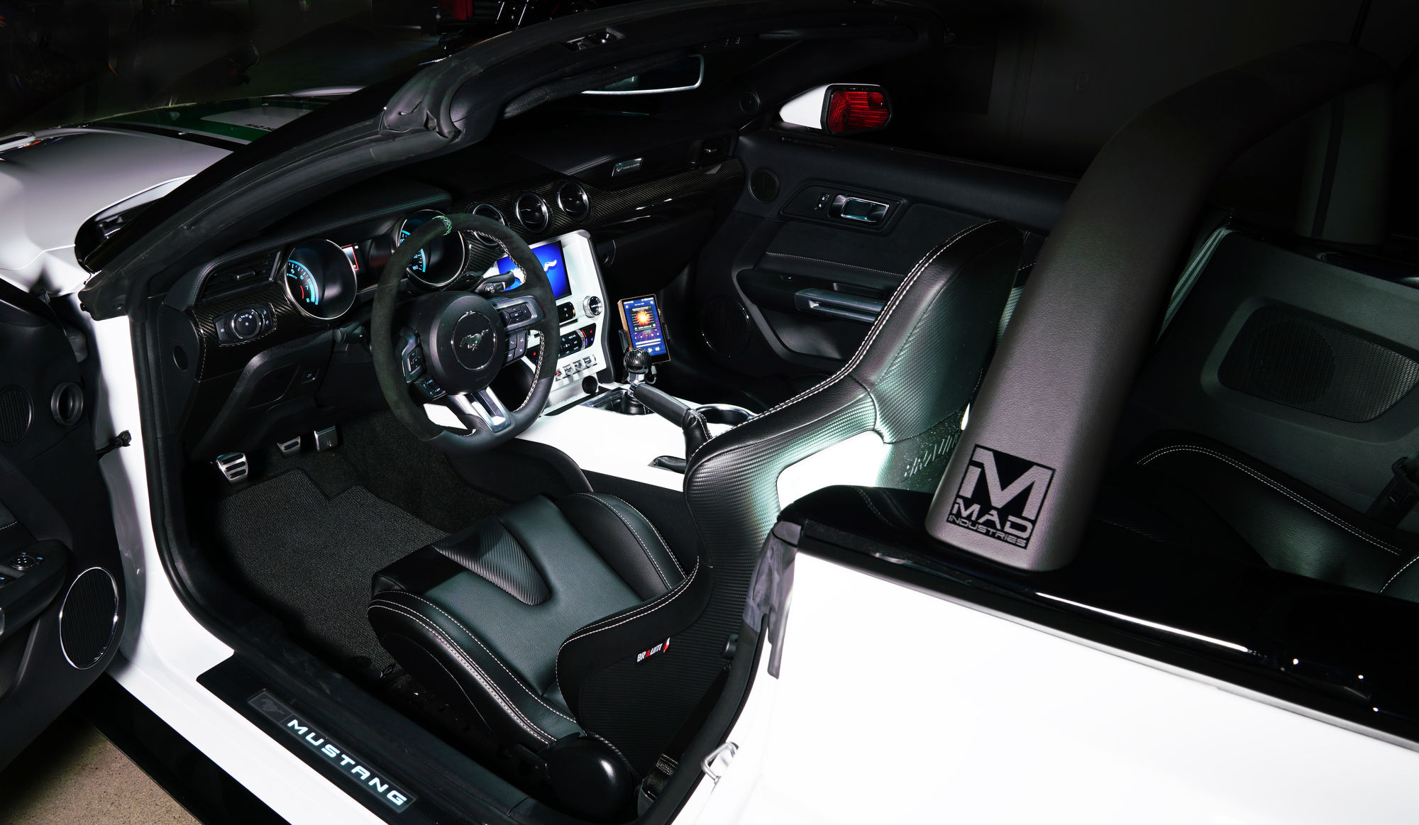 2018 ford mustang ecoboost convertible by mad industries featuring mad industries custom interior work fordsema