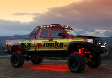 Tonka Tundra build with Rigid Industries LED lights and custom Rigid Industries LED Grille.