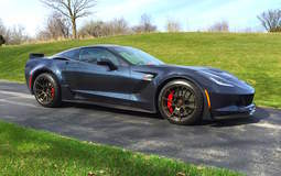 Schwartz Performance C7 Z06 Corvette on Forgeline GA1R Open Lug Cap Edition Wheels