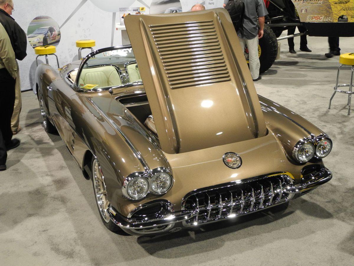 1958 Chevrolet Corvette | Legacy Innovations '58 Corvette Roadster on Forgeline RB3C Wheels