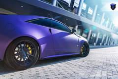 Matte Purple Cadillac CTS-V - Stance