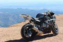 S1000RR at the top of Pikes Peak