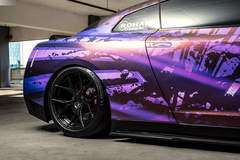 Wrapped Nissan GTR - Fitment