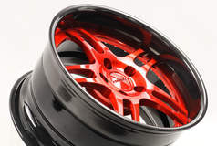 Forgeline DS3P in Transparent Red, Gloss Black, & Black Pearl