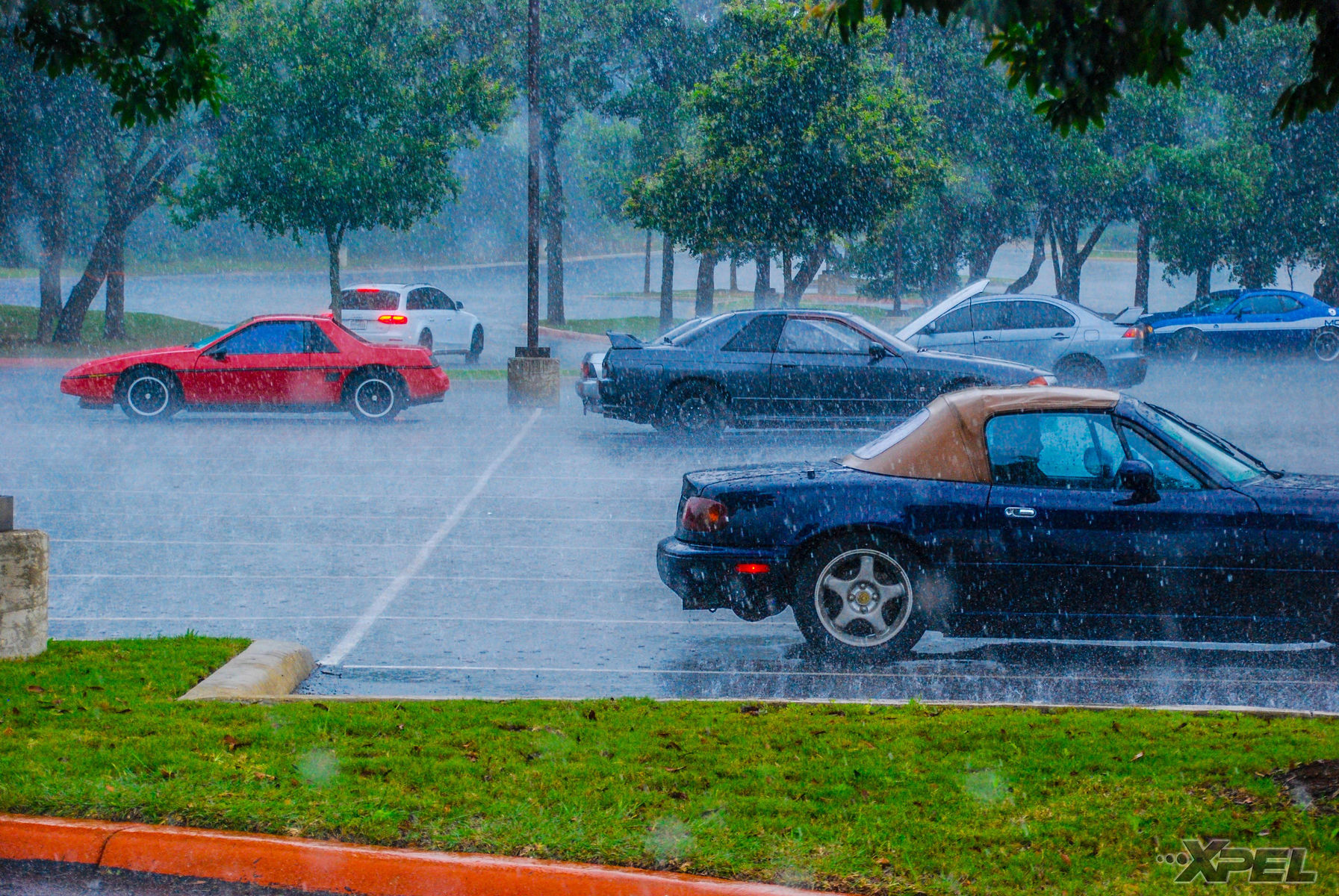   More rain at Cars and Coffee San Antonio