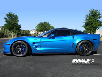 "2009 Chevrolet Corvette | OUR CLIENT'S CHEVROLET CORVETTE C6 ZR1 WITH 19/20"" HRE P40 WHEELS"