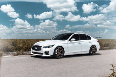 2015 Infiniti Q50 | White Infiniti Q50s on Velgen Wheels  Classic5 Satin Bronze 20x9 & 20x10.5