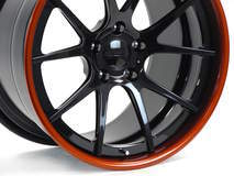 Forgeline GA3C in Carbon Flash & Sunrise Orange Metallic