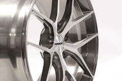 Forgeline One Piece Forged Monoblock VX1 in Two Tone Machined and Brushed Finish